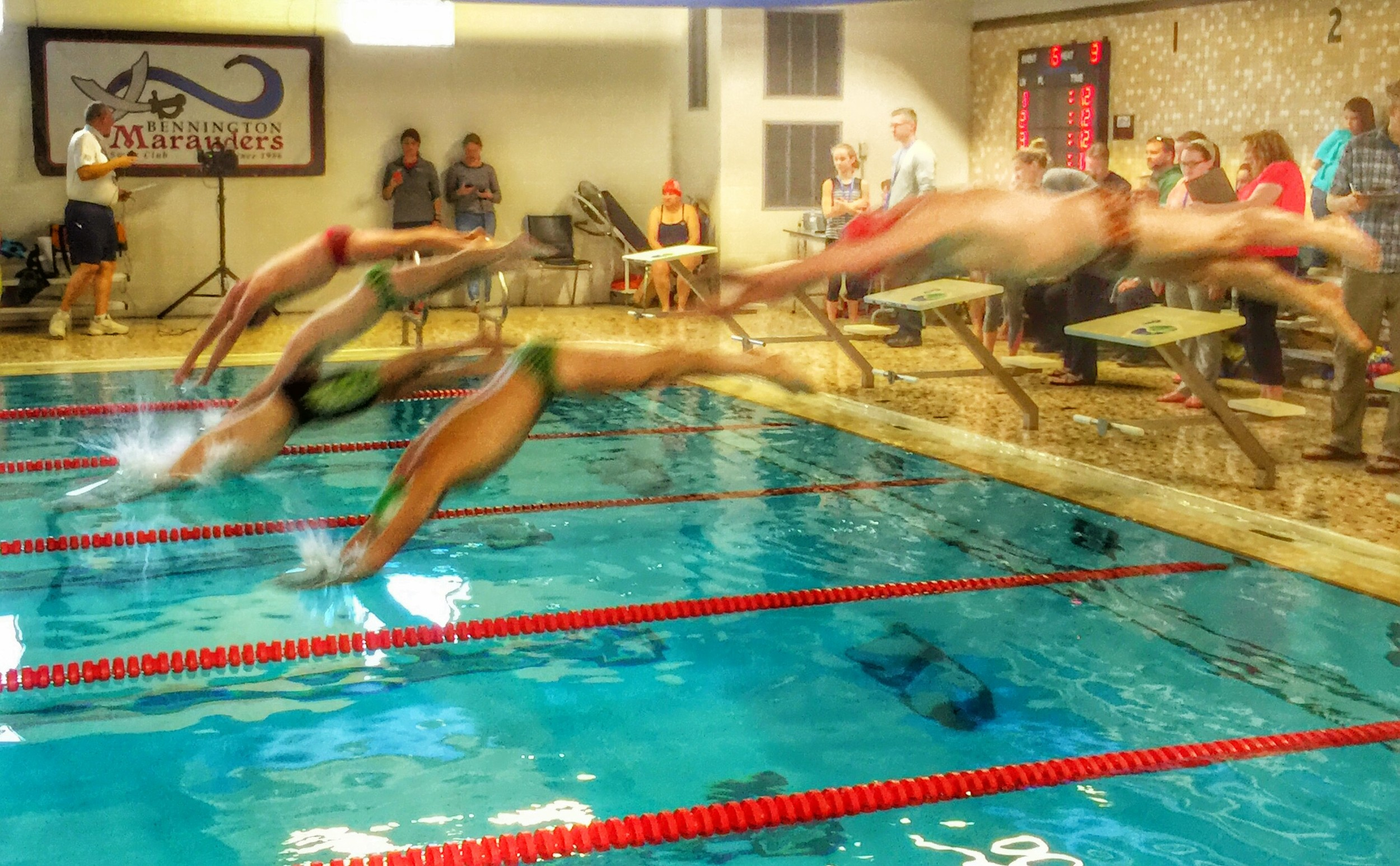 Heat two of the 100-yard freestyle