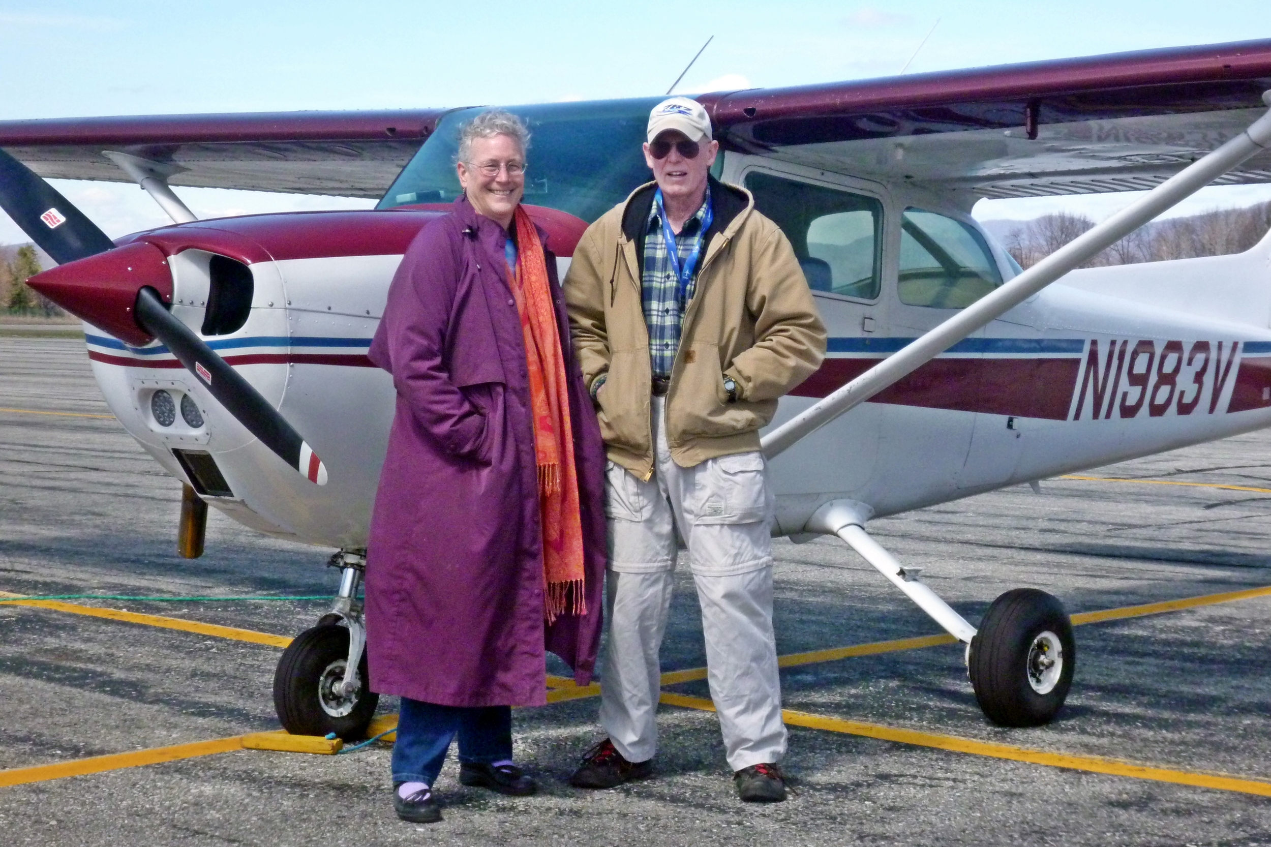 Maurice Regan and Liz MacBride flew in from New Hampshire