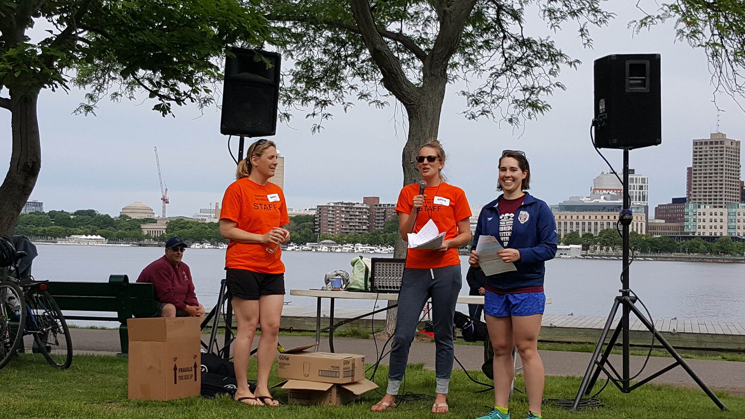 Overall winner Alana Aubin receives her prizes from race director Kate Radville