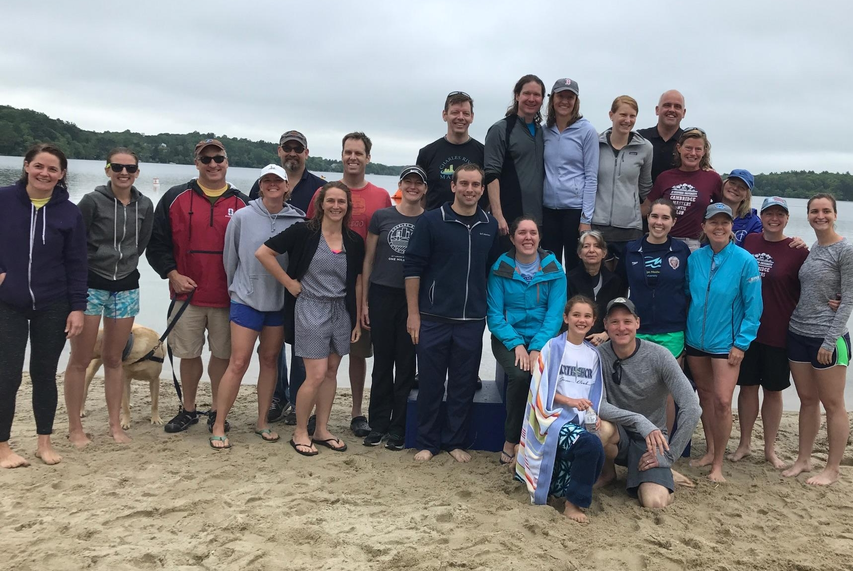 Charles River Masters after the Mashpee SuperSwim