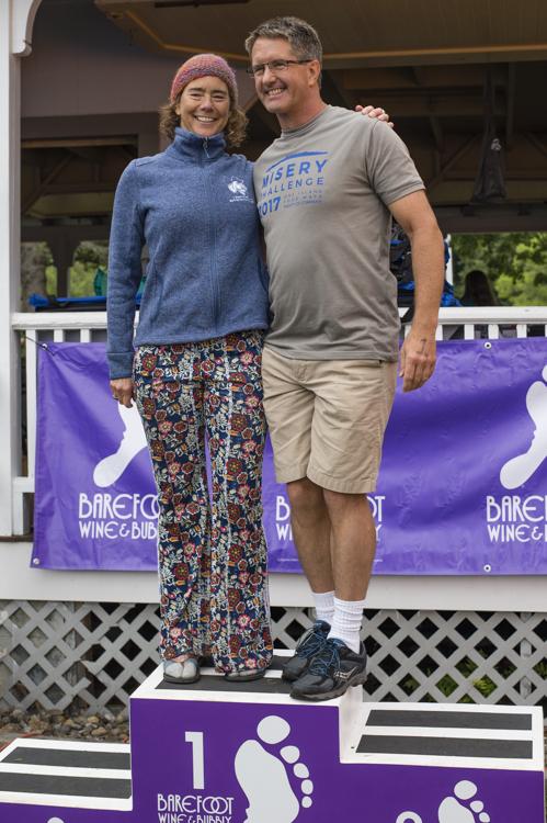 Martha Wood (Unattached) and Guy Davis (GBM) each won their age group.