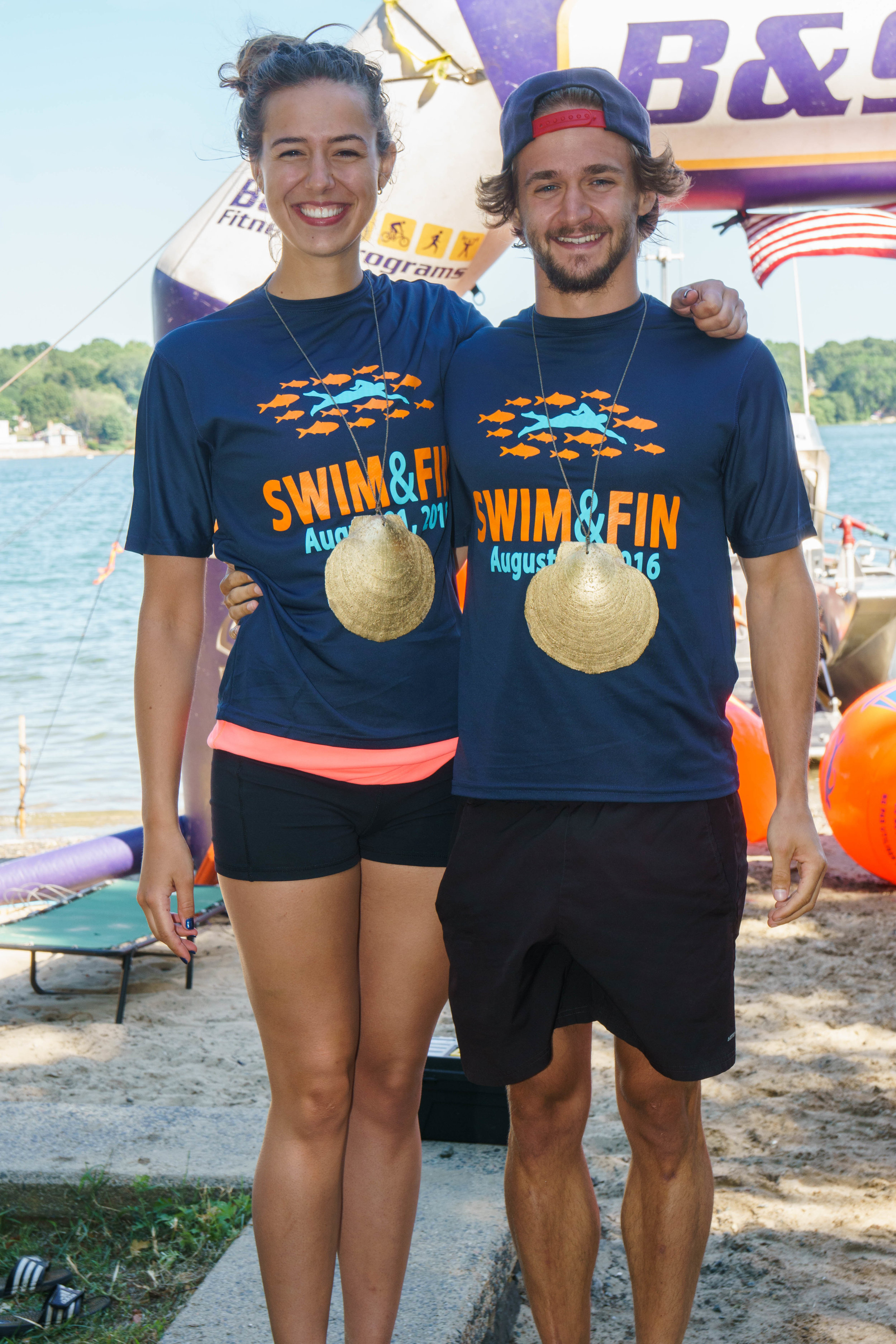Two of last year's Swim & Fin winners