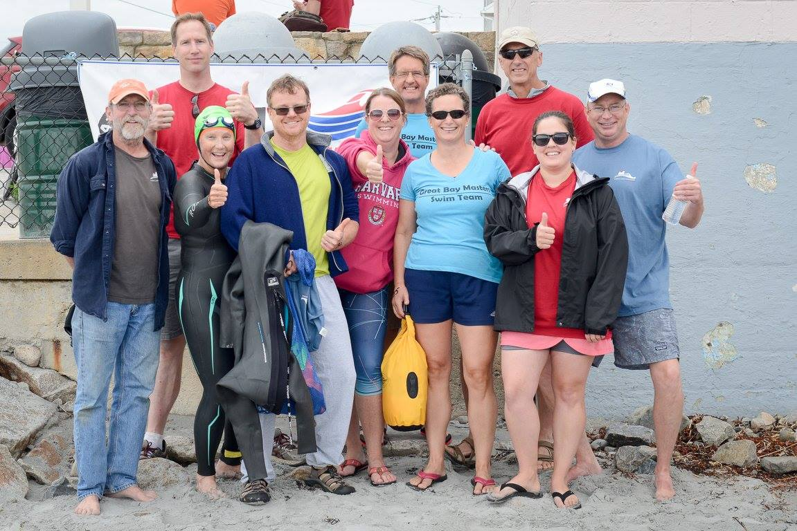 Great Bay Masters swimmers at the Nubble Light Challenge