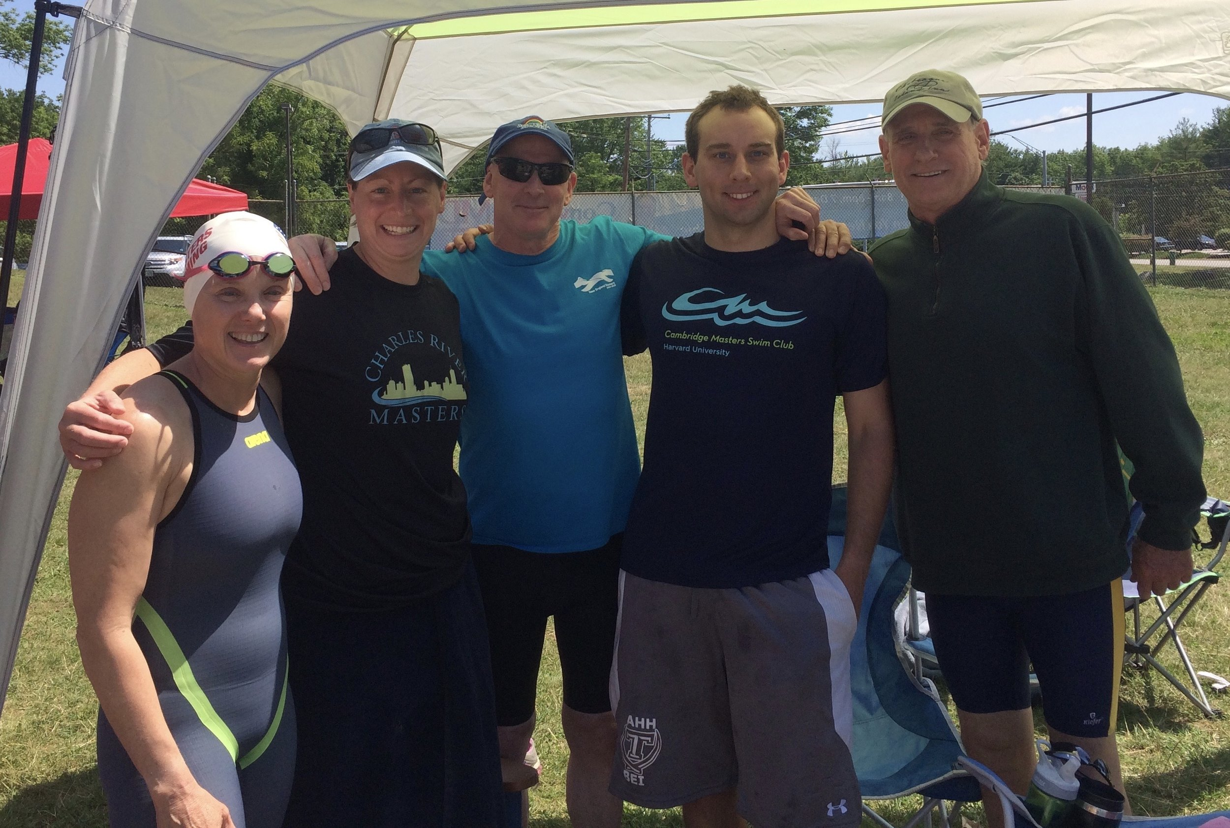 Sue Jensen, Jennifer Downing, Dan Epstein, Matt Wiens, and Fred Schlicher represented Charles River Masters