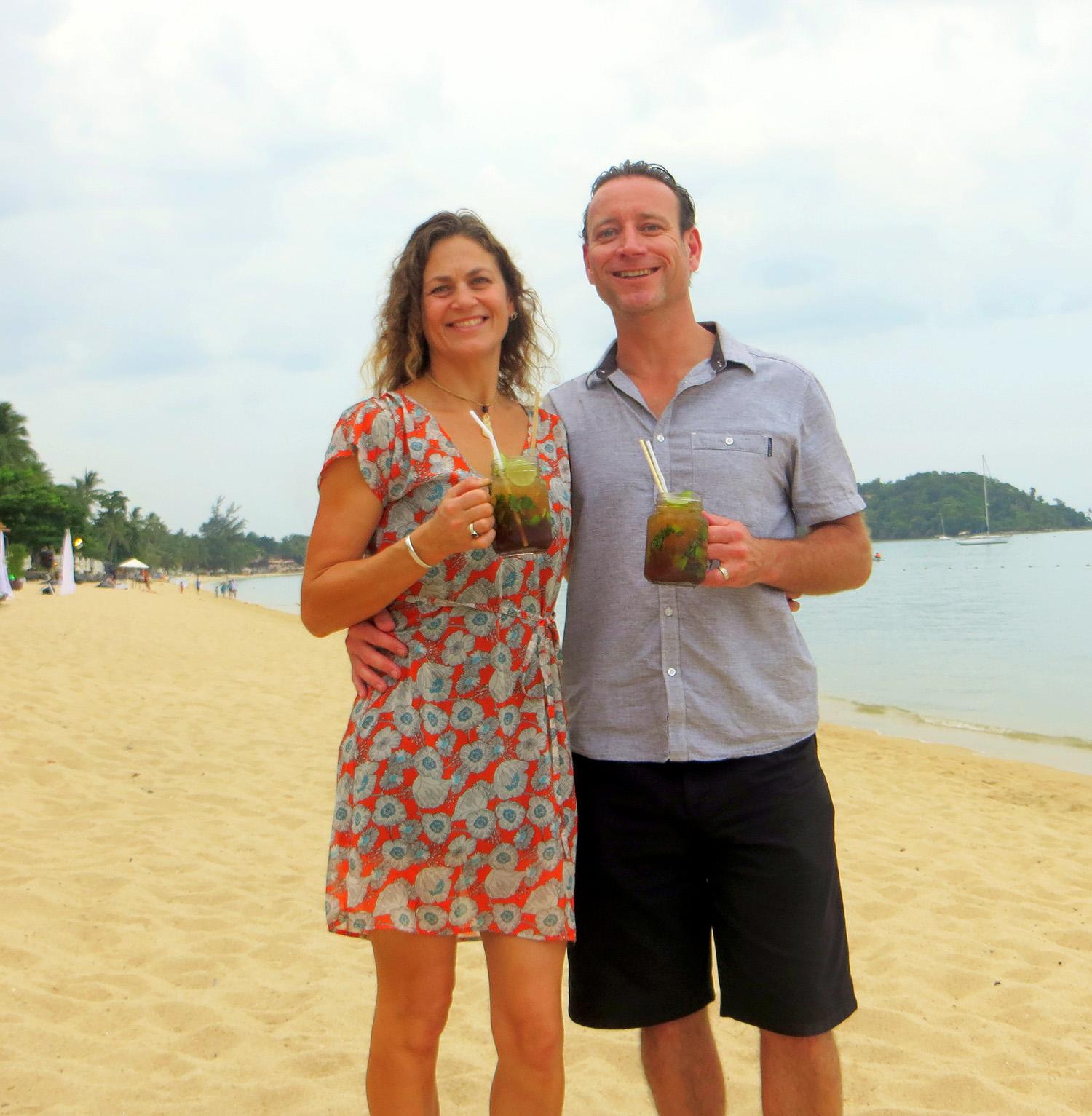 Andrew and Rachel Welch - Bophut Beach - Koh Samui 2015