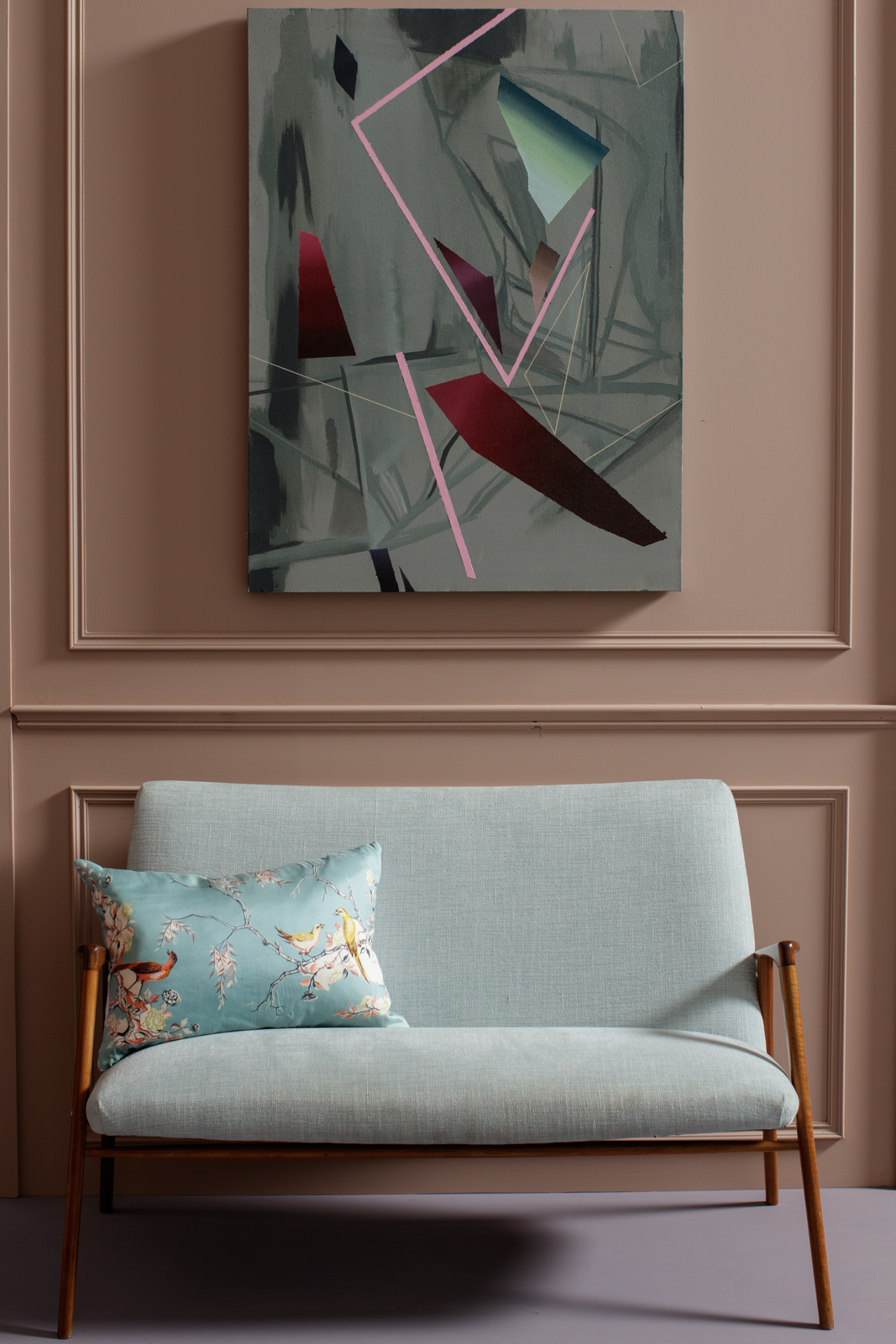 Kingston Lafferty Design interior with Katie Larmour Couture Cushions created from repurposed rare vintage and antique designer Liberty of London scarves as home accessories5.jpg