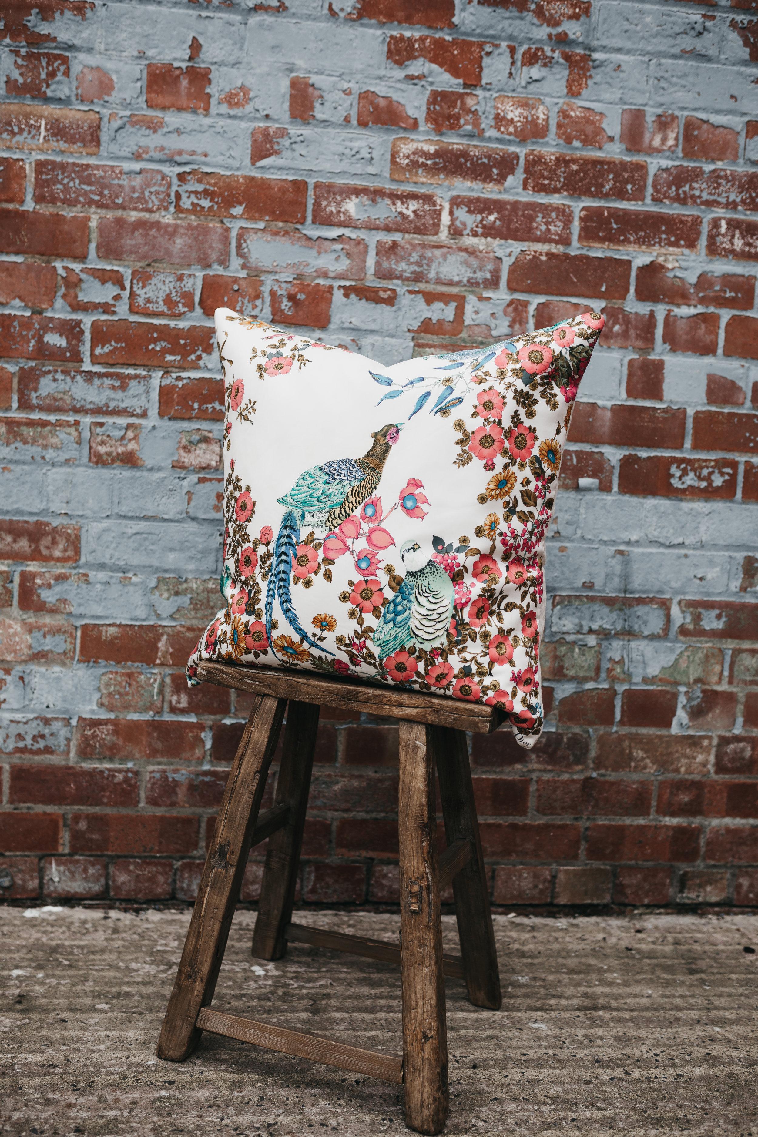 3Q1A4067 Katie Larmour Irish Linen Beflast Northern Ireland Model Vintage SIlk Scarf Cushion Sustainability Old Linen Mill  .jpg