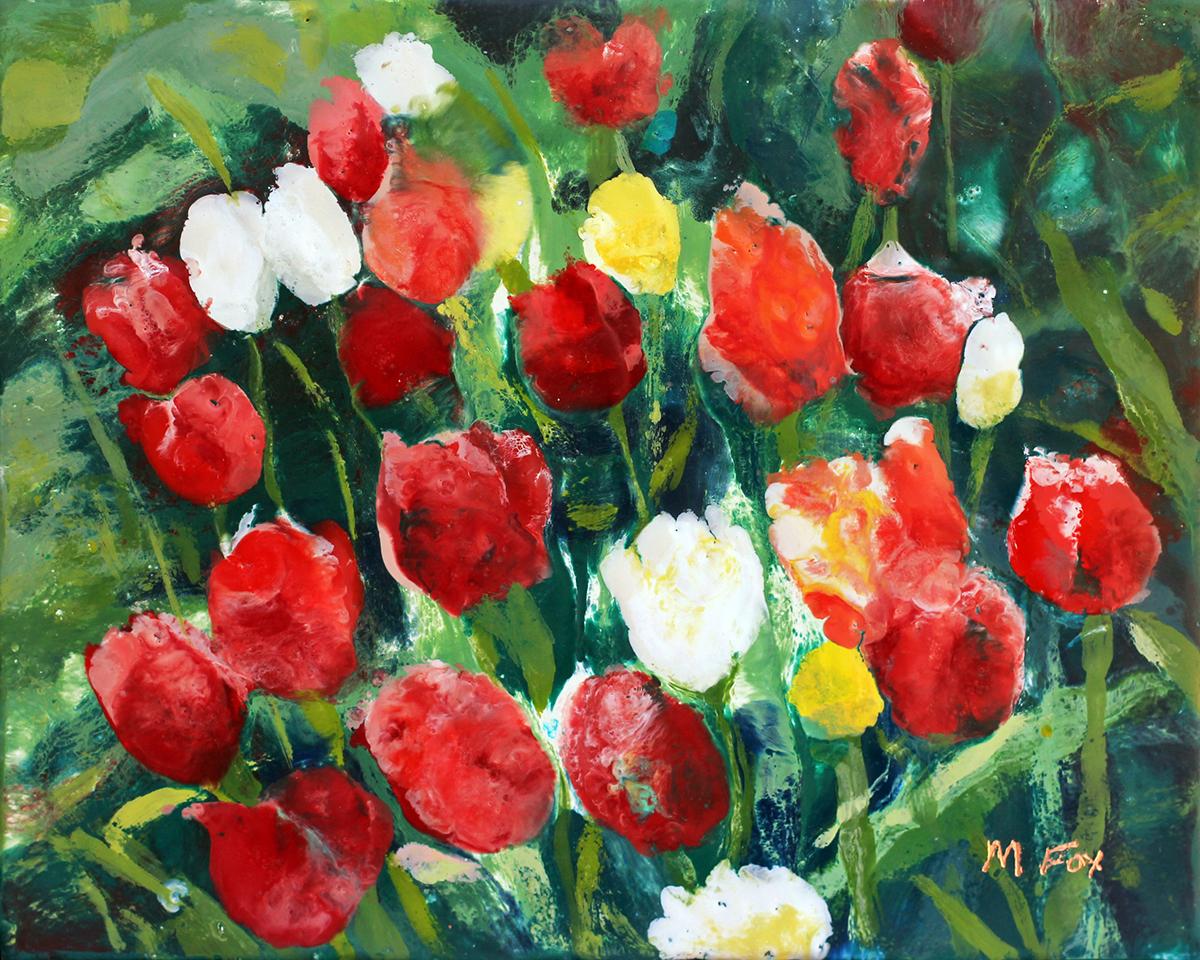 "Glimpse of Spring, 8""x10"", Maura Fox"