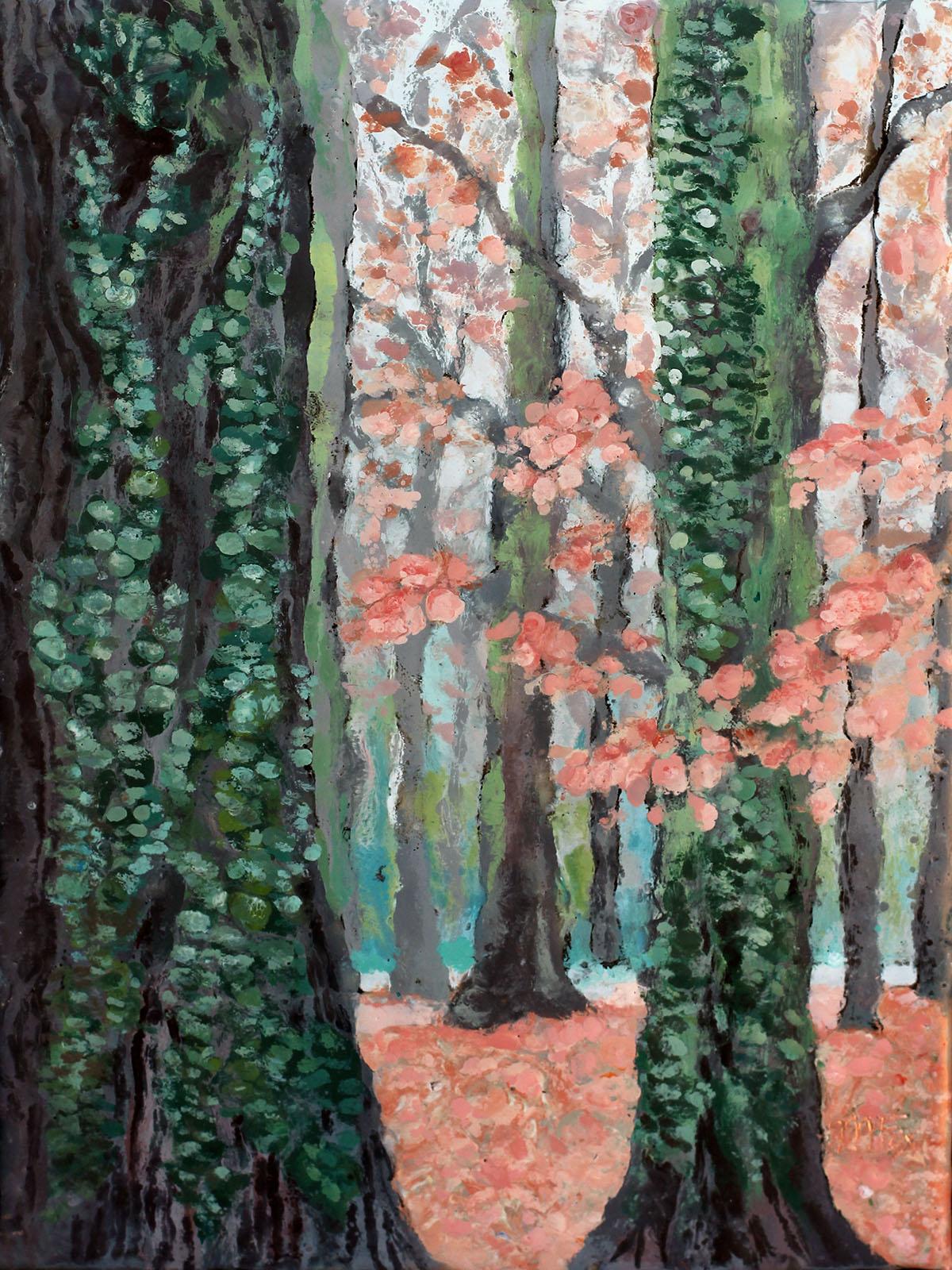 "Autumn's Quilt, 9"" x 12"", Maura Fox"