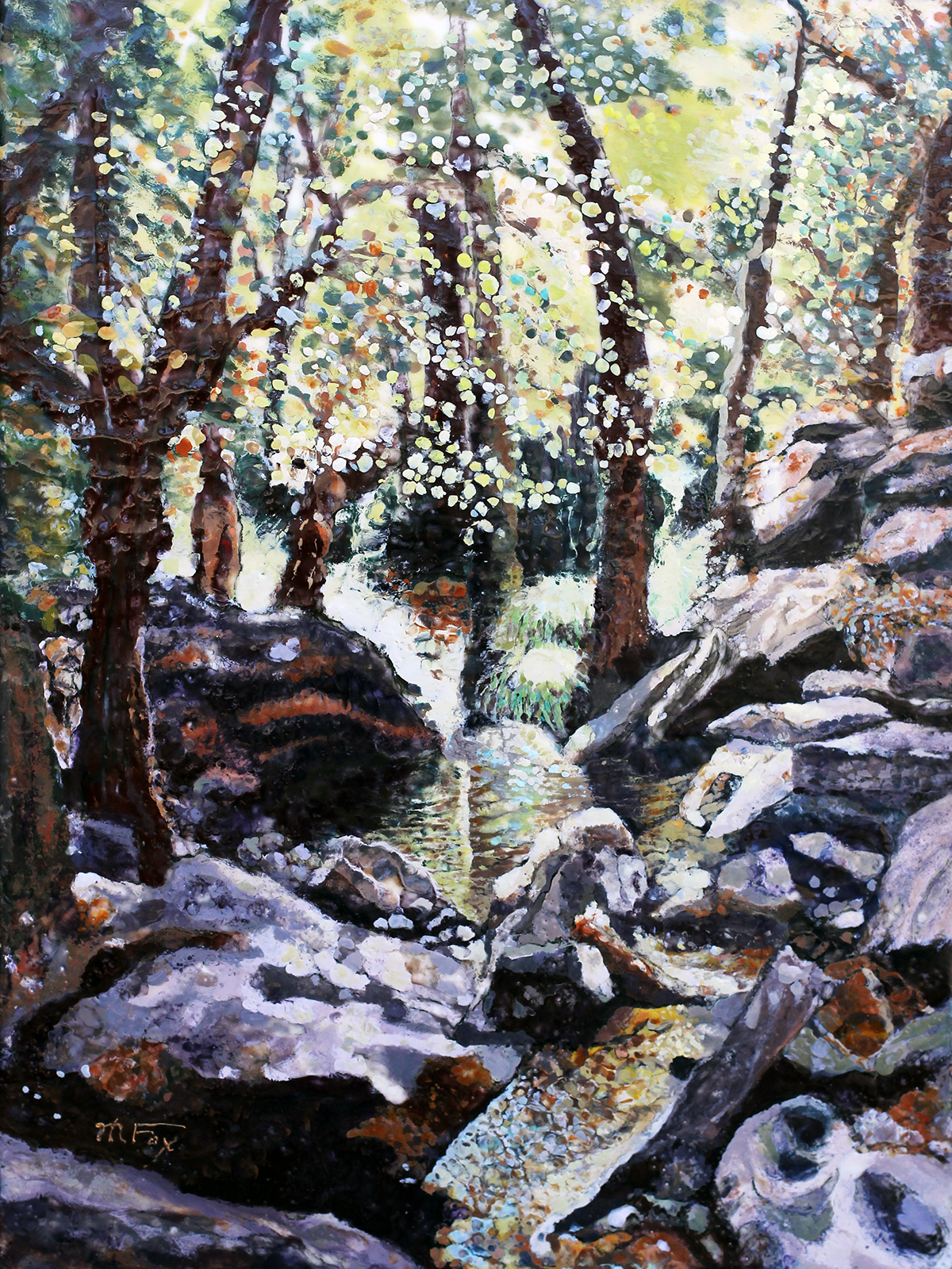 "Ventana Creek, 18"" x 24"", Maura Fox"