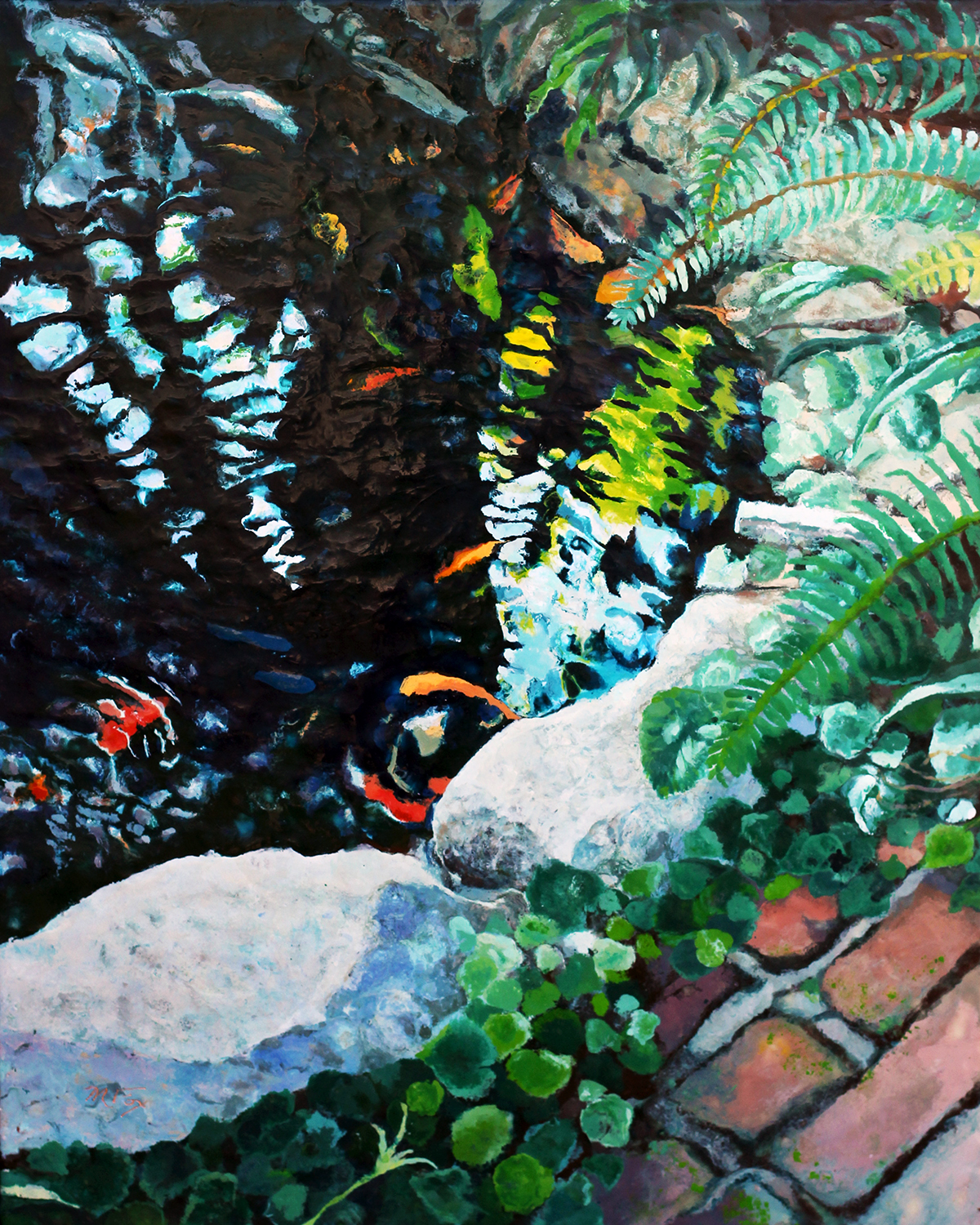 "Water Garden, 24"" x 30"", Maura Fox"