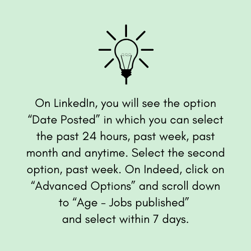 tip on filtering your job search on linkedin