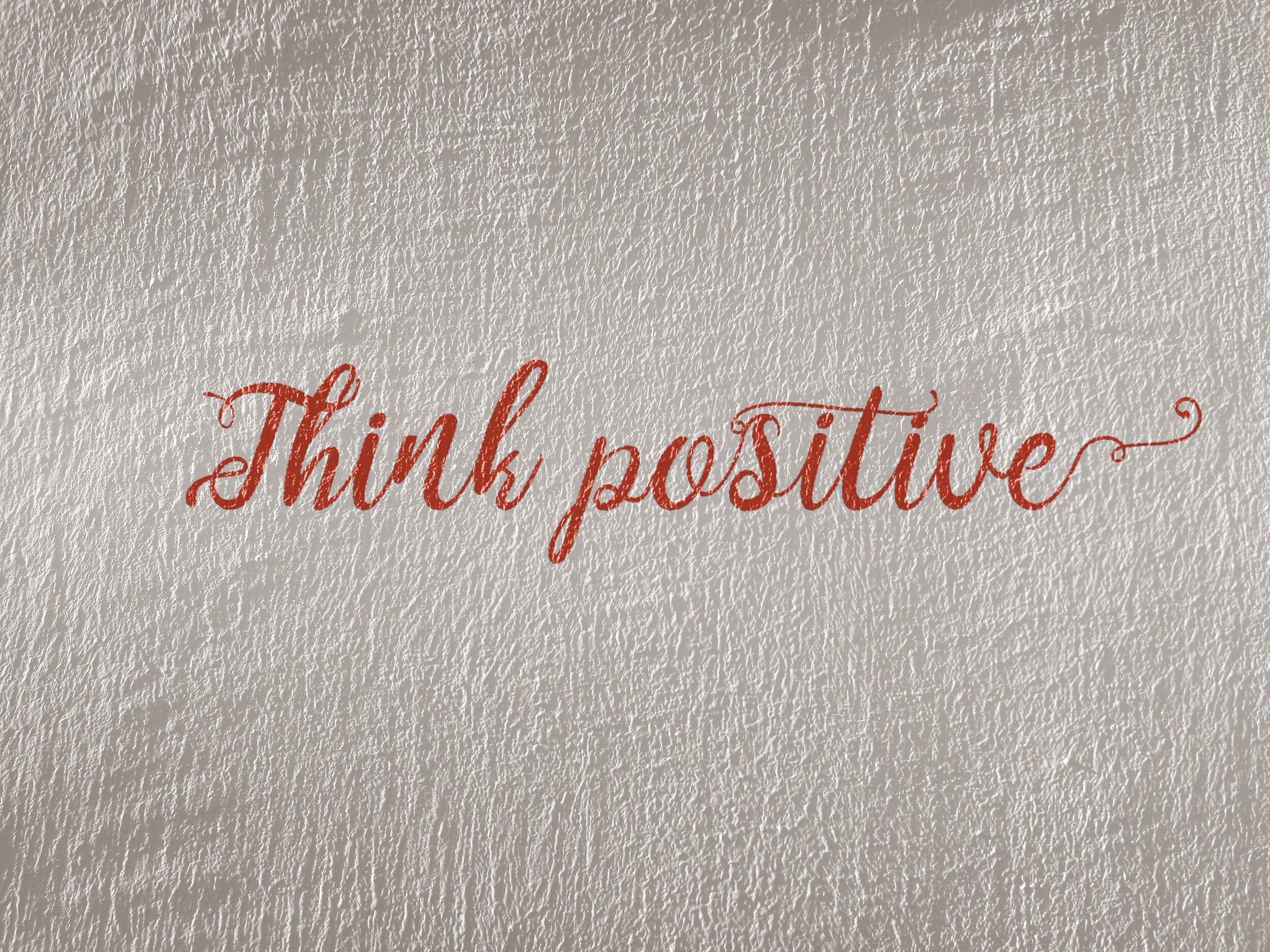 think positive during jobs search