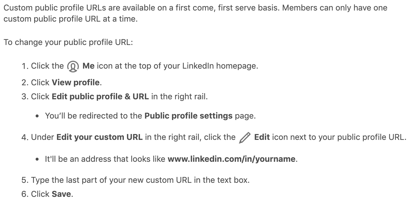 change your linkedin URL