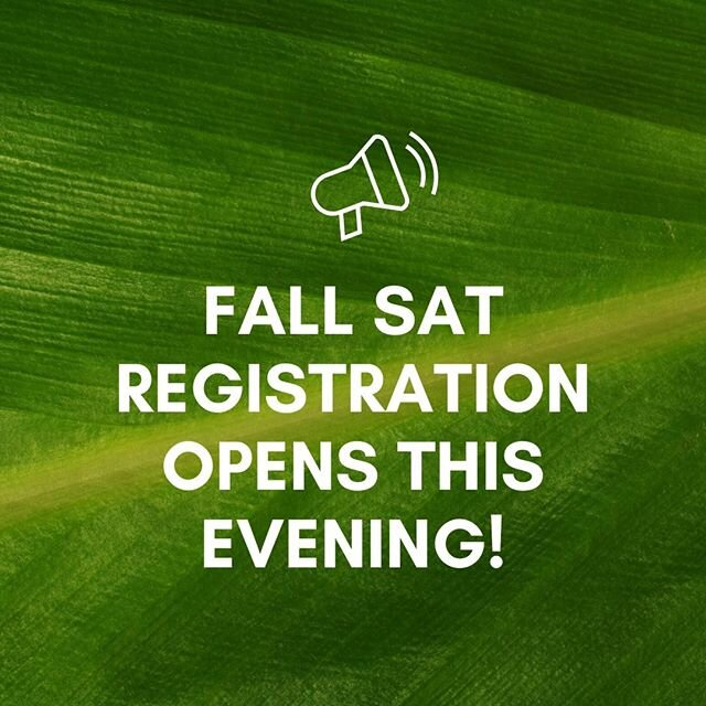 @collegeboard announced Fall SAT registration opens this evening! Students that do not have an SAT score will have access to August, September, and October dates before they are open to all other students. #SAT⁠ · ⁠ · ⁠ · ⁠ · ⁠ · ⁠ · ⁠ · ⁠ #university #collegelife #education #collegebound #studentlife #highschool #graduation #collegedreams #collegegoals #photooftheday #collegeadmissions #applyingtocollege #sat #testing #testprep #college #mocktest #teachersofinstagram #collegeprep #mindfuladmissions #practicetest #satprep #collegeapplications