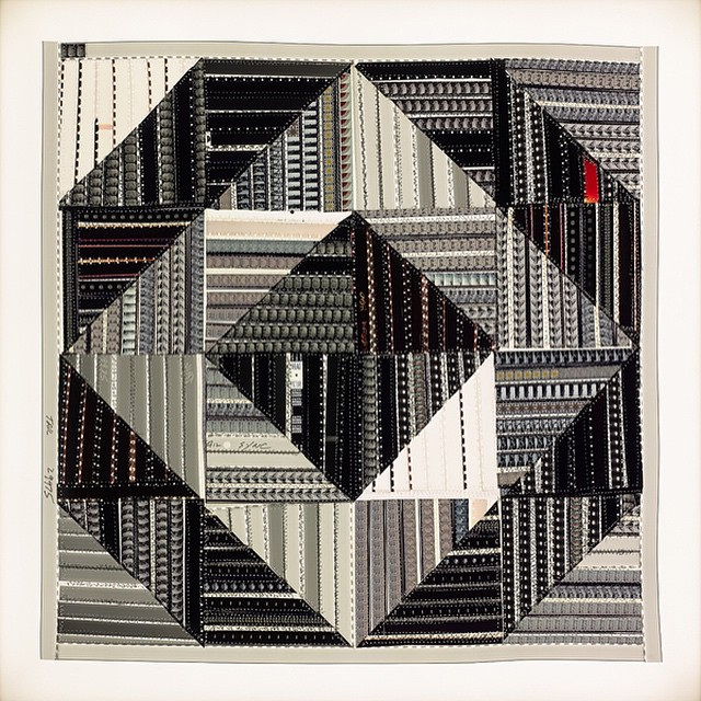 "Join us for the final day of Sabrina Gschwandtner's ""Film Quilts""! #shoshanawaynegallery #filmquilts #sabrinagschwandtner"