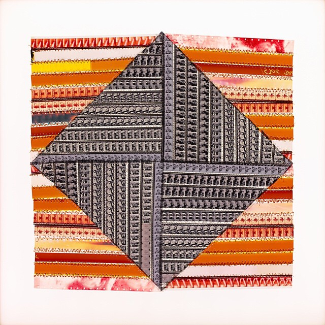 "Don't forget to come in for Sabrina Gschwandtner's ""Film Quilts""! On view through April 18 #shoshanawaynegallery #sabrinagschwandtner #filmquilts"
