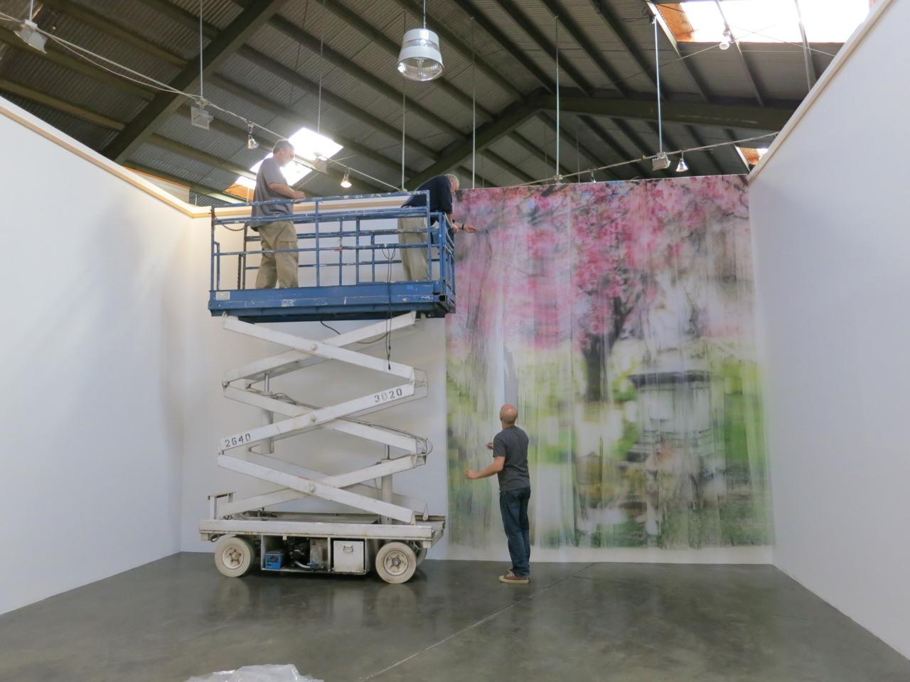 Installation week: Izhar Patkin hard at work for his solo exhibition, opening this Saturday!