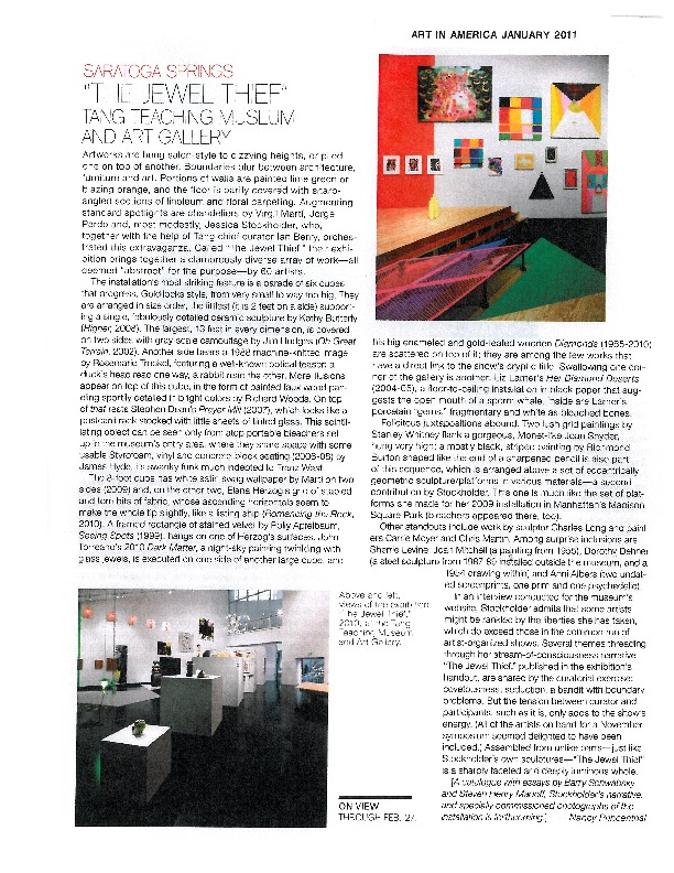 KATHY BUTTERLY / Art in America January 2011