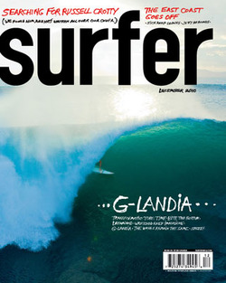 "RUSSELL CROTTY / SURFER MAGAZINE   ""Searching for Russell Crotty""   December 2010 Issue"