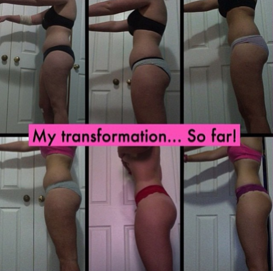 body transformation photo before and after