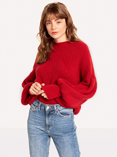 The Red Chunky Knit, SALE: £22