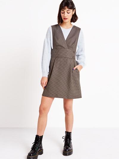 The Check Pinny Dress, SALE: £20