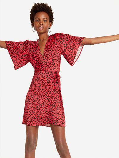 The Leopard Wrap Dress, SALE: £22