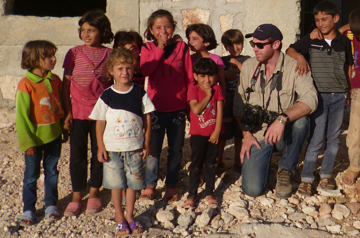 Will Wintercross, SRRF co-founder in Syria, summer 2013