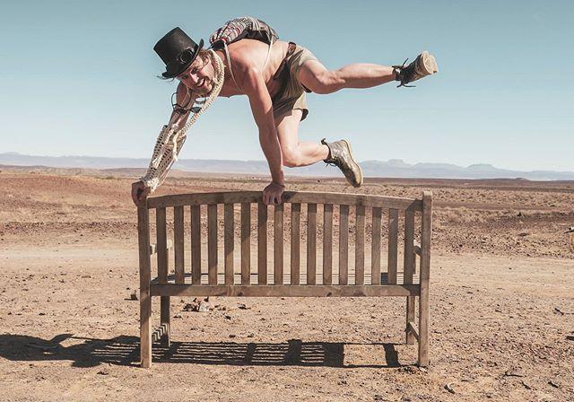 Desert steeplechase! . #steeplechase #afrikaburn #afrikaburn2019 #desert #tankwatown #tankwa #karoo #southafrica #explore #adventure #bench