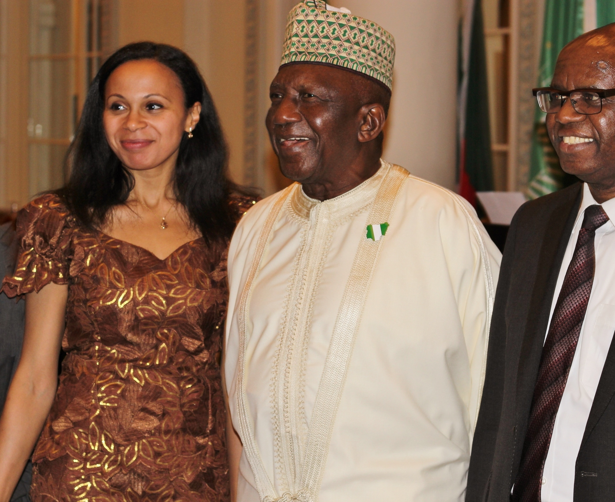 Rebeca Omordia and His Excellency Nigeria High Commissioner in London