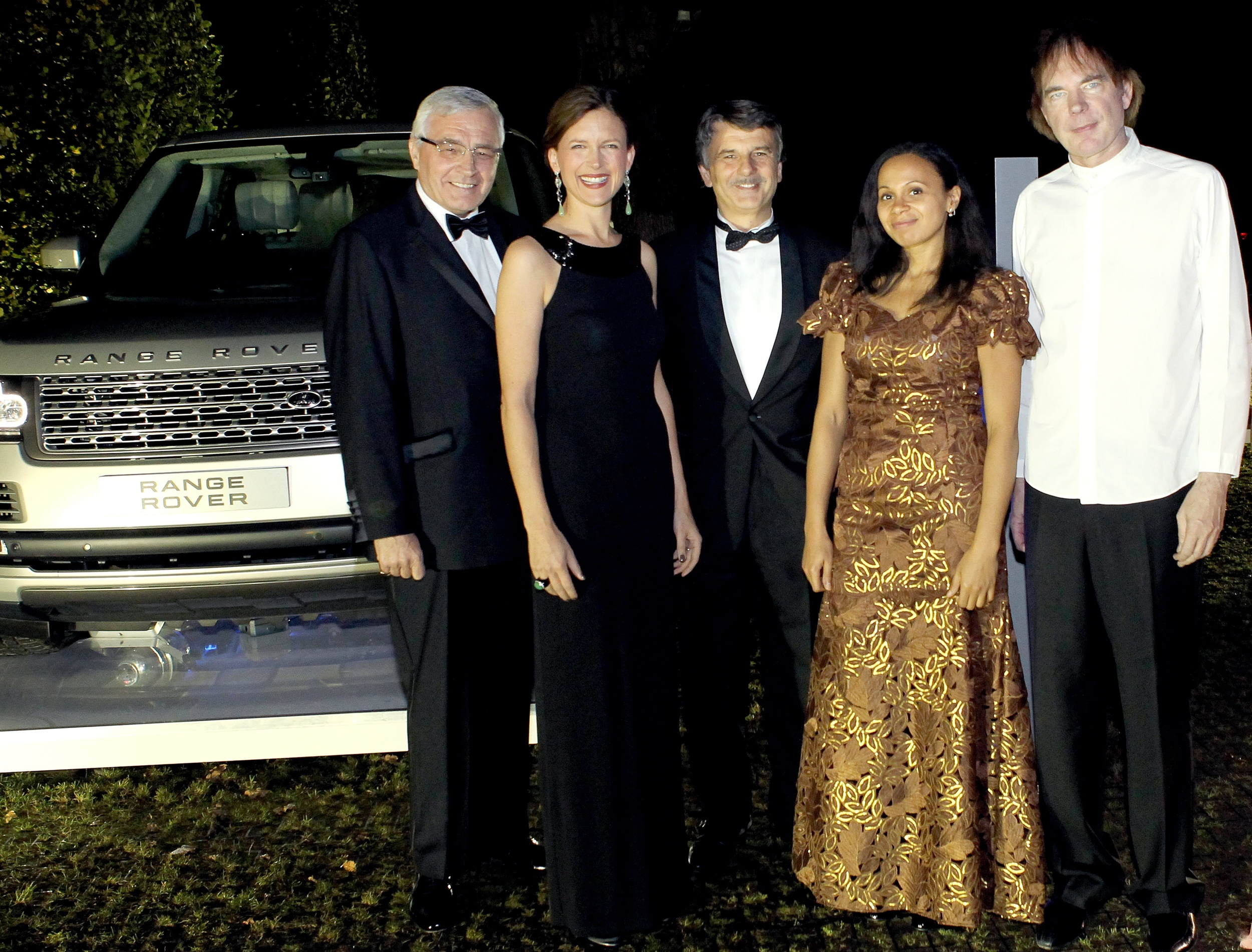 Highgrove for the Prince's Trust - Julian Lloyd Webber, Rebeca Omordia, Katie Derham and Range Rover representatives