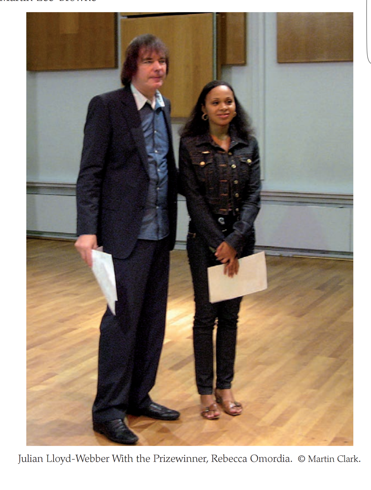 Julian Lloyd Webber and Rebeca Omordia - Delius Prize at Birmingham Conservatoire, 2009