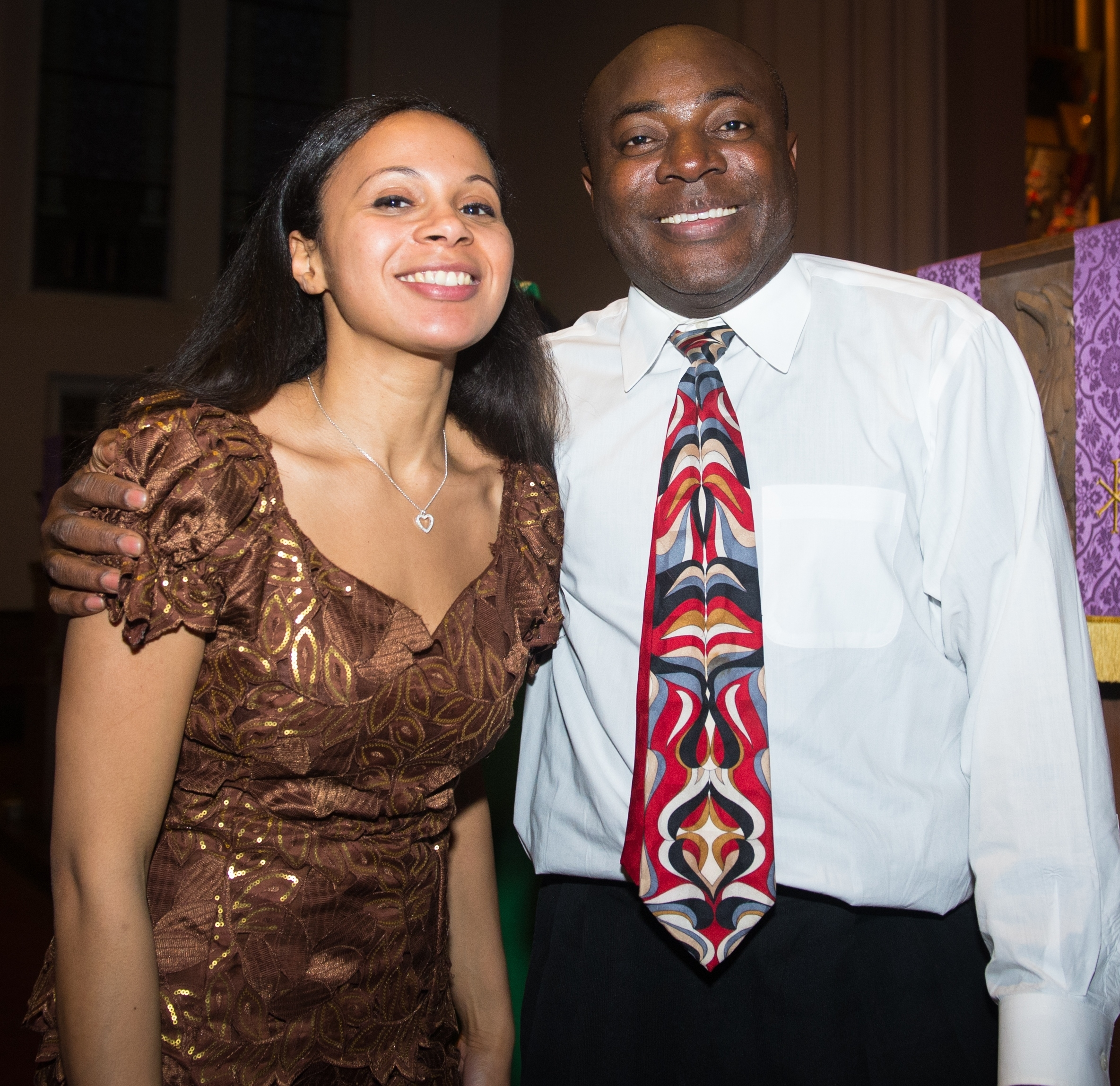 Rebeca Omordia and composer Fred Onovwerosuoke