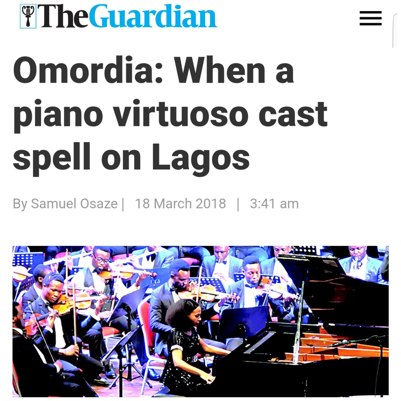 The Guardian Nigeria - Samuel Osaze writes on Rebeca Omordia's Nigeria debut. Read full article here
