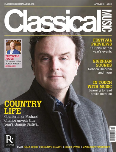 Classical Music Magazine - Rebeca's article on Nigerian classical music was published in the April issue of Classical Music Magazine