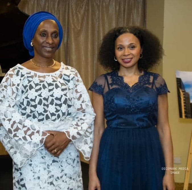 Rebec Omordia and Nigeria Vice-President's wife Mrs Dolapo Osinbajo