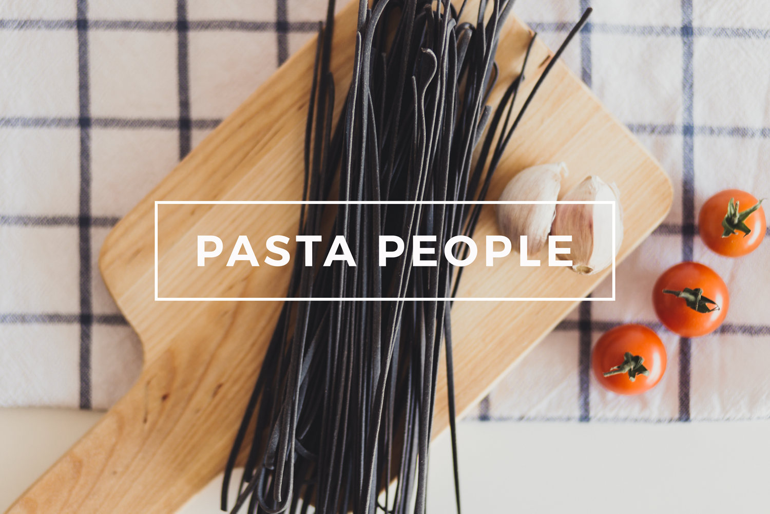 Squid ink pasta by Pasta People- Canberra food styling and photography