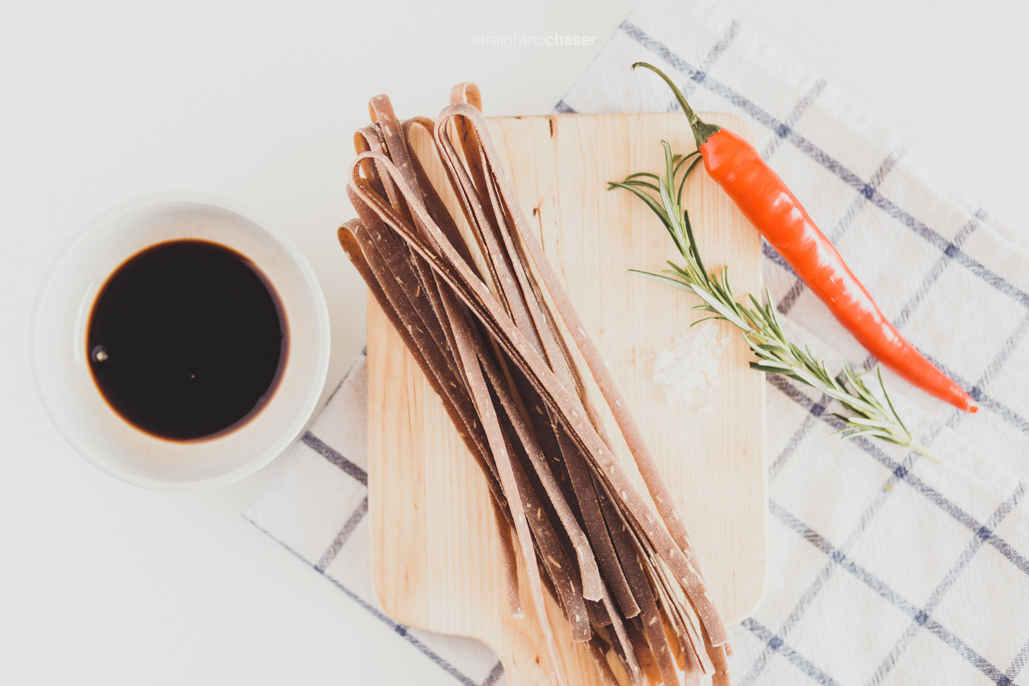 Balsamic chilli rosemary Favoured pasta available online by Pasta People- Canberra food styling and photography