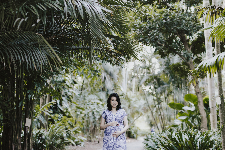 Maternity portrait session at the Sydney Botanical Gardens