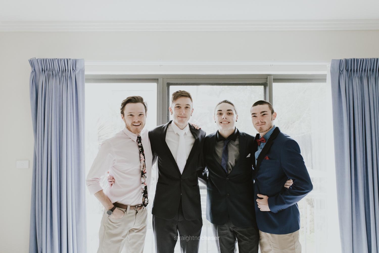 Sam & Aaron Getting Ready - Canberra Wedding
