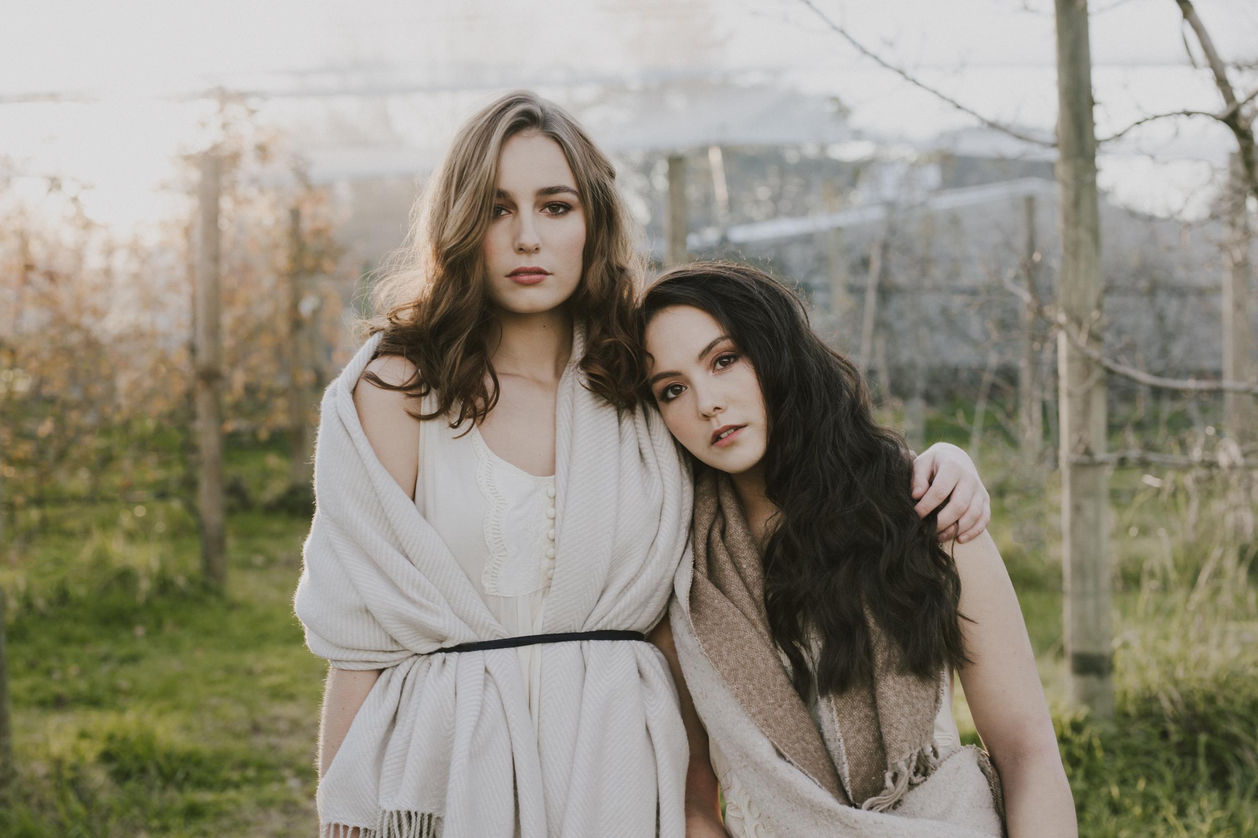 Amaliah and Megan- apple orchard shoot for Big Ink Magazine