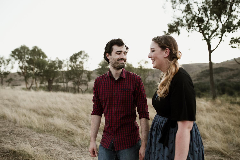 Canberra Sunset Farm Engagement Portrait Session