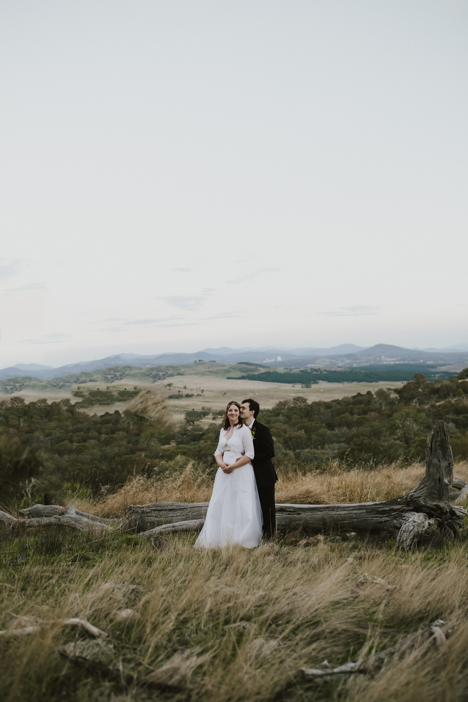 Reece and Sarah post Wedding portraits Pinnacle Reserve Canbera