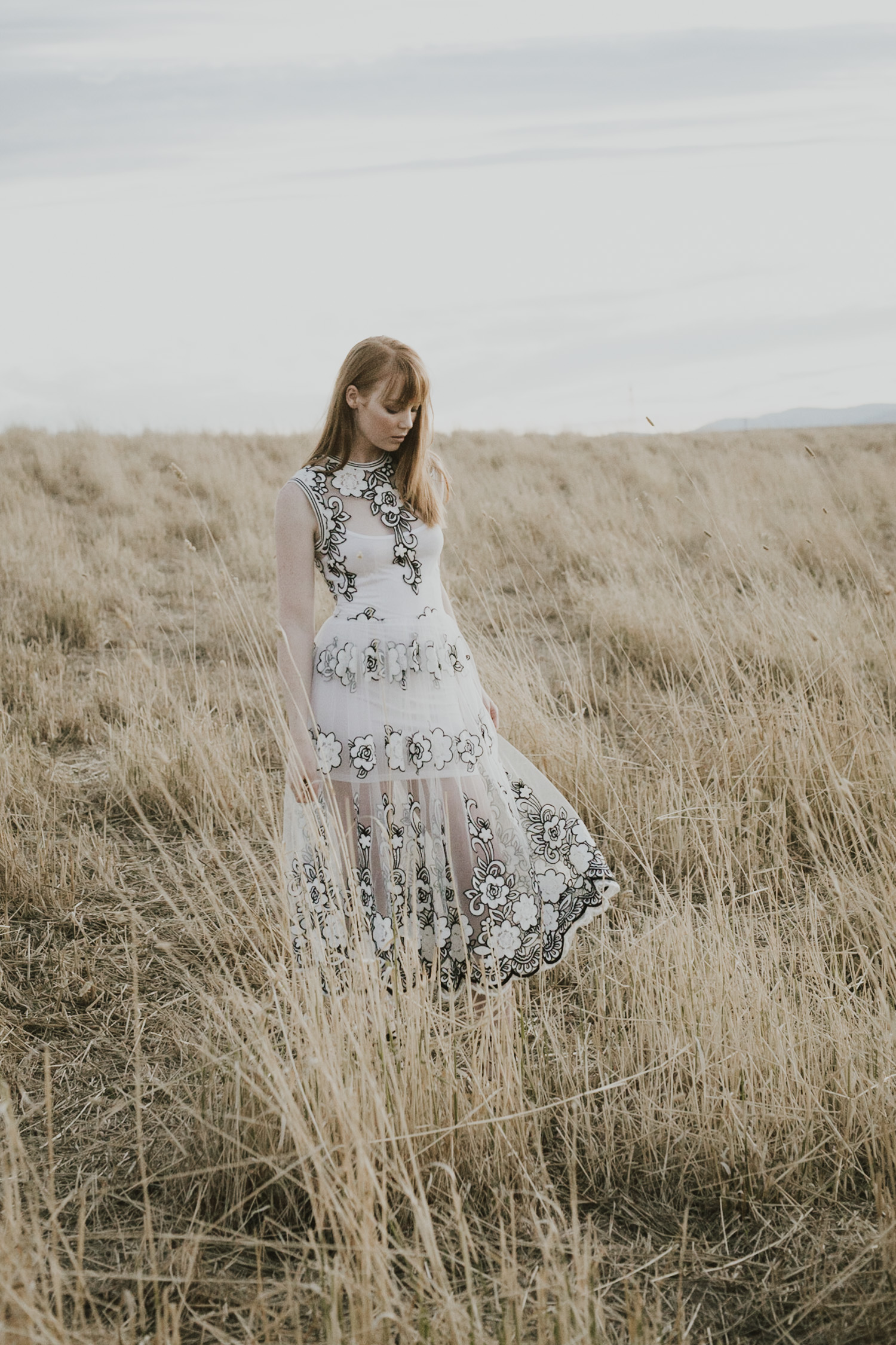 Editorial portrait shoot published in Big Ink Magazine, shot in a large open field in Canberra