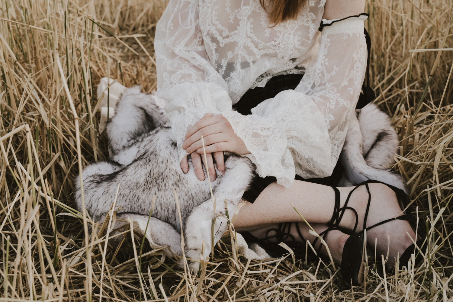Editorial portrait shoot published in Big Ink Magazine, shot by Jenny Wu in a large open field in Canberra