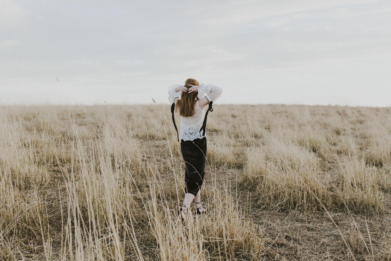 Frolicking in an open field- an editorial shot in Canberra by Jenny Wu