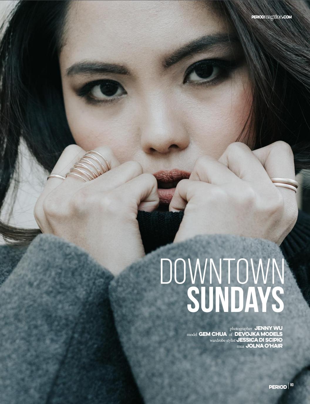 Downtown Sundays editorial: Photography Jenny Wu Gem wearing grey trench styled by Jess Discipio