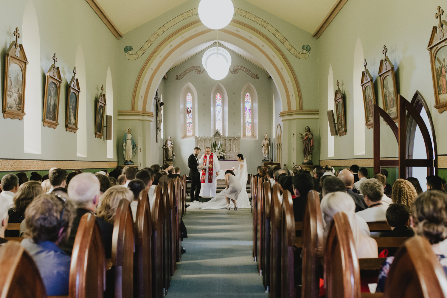 Fitters Workshop Wedding St Gregory's Church Photography by Jenny Wu Straight No Chaser Canberra
