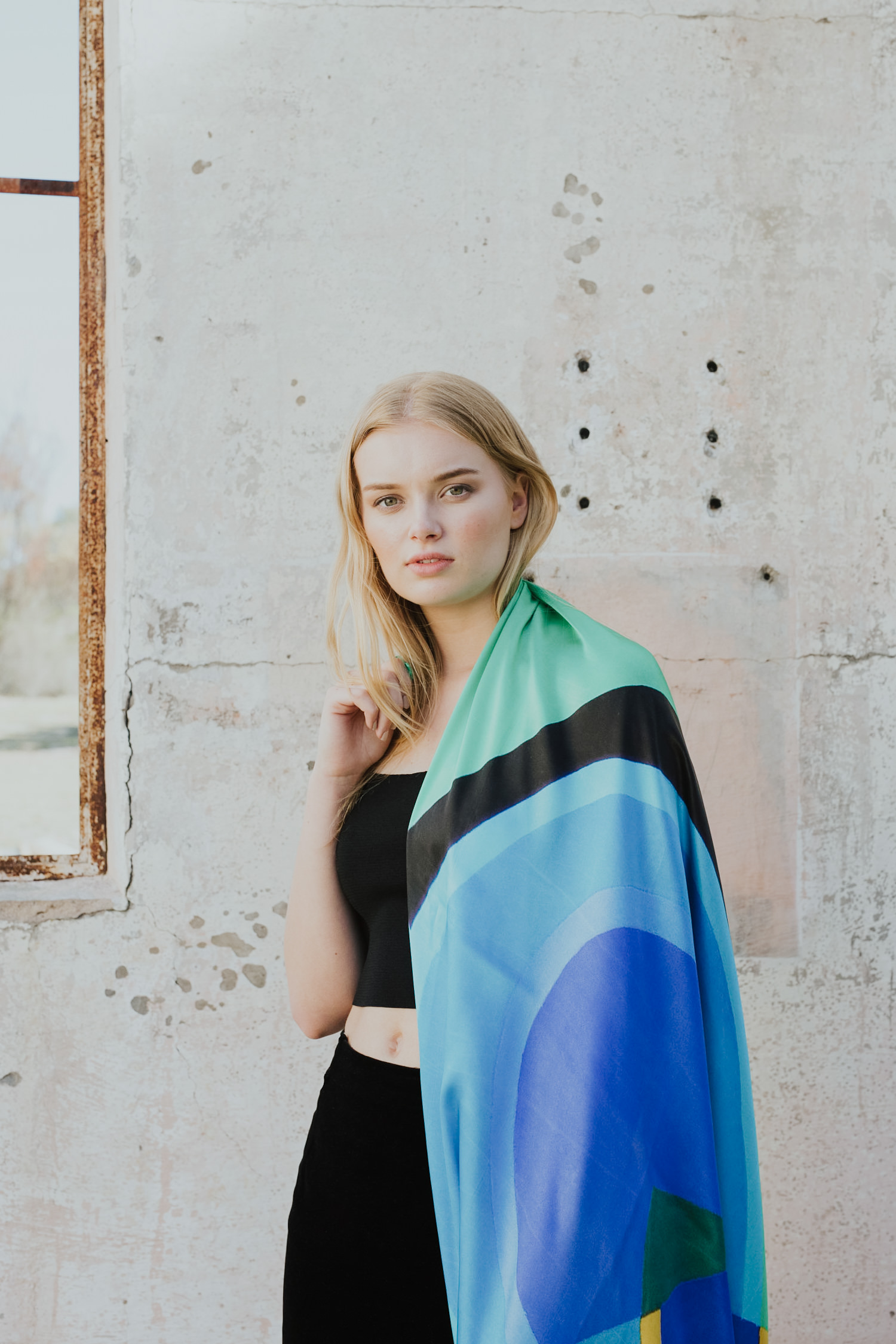 Australian artwork printed on silk scarves- One Of Twelve: photography by Jenny Wu